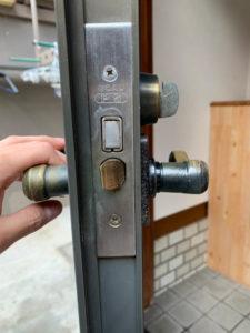 T様宅玄関ドア開錠