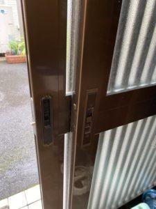 玄関引戸鍵交換