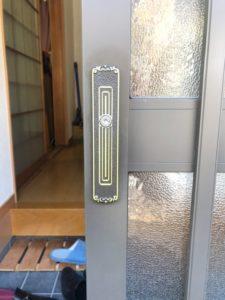 M様宅 玄関引き戸鍵交換