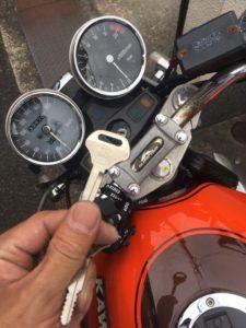 カワサキバイク バリオス1鍵作成